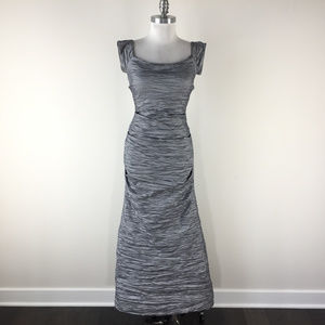 Alex Evenings 6 8 Gray Formal Evening Gown Dress